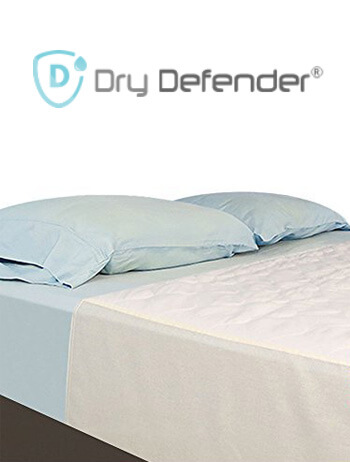 The Dry Defender Is Described As An Underpad; However, It Is Soft Enough  That You Can Sleep On It Directly. The Waterproof Bottom Layer Is Made Of  Vinyl.