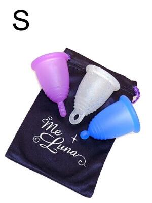 Blue Glitter Me Luna Menstrual Cup Classic Medium Ring