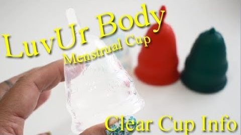 LuvUr Body Clear Menstrual Cup Info