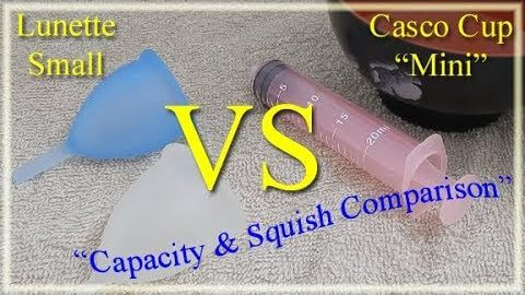 Lunette Sm vs Casco Mini Capacity & Squish Comparison - Menstrual Cups