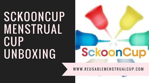 Sckooncup Menstrual Cup Unboxing