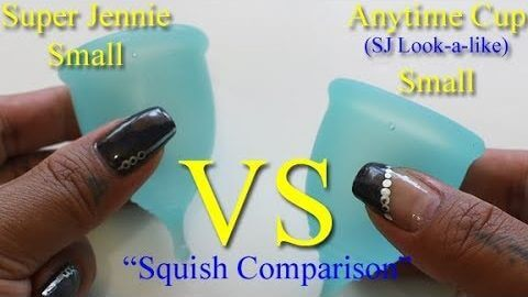 "Super Jennie vs Anytime Cup SM ""Squish"" - Menstrual Cups"