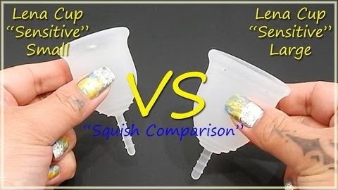 "Lena Cup ""Sensitive"" Small & Large ""Squish"" - Menstrual Cups"