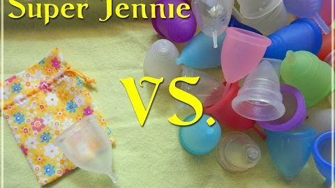 Super Jennie vs Various Menstrual Cups - Comparison