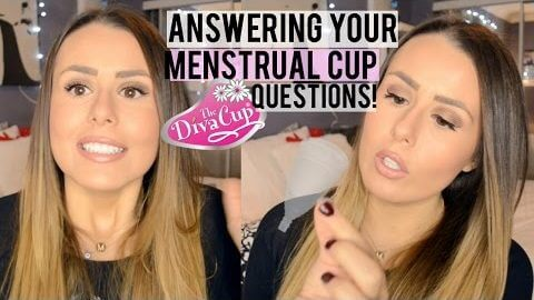 DIVA CUP/MENSTRUAL CUP FAQ! | CHANGING DIVACUP IN PUBLIC, SLEEPING, LEAKING?