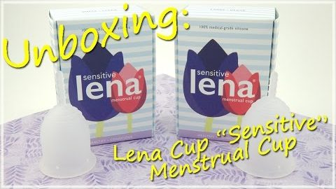 "Unboxing - Lena Cup ""Sensitive"" - Menstrual Cup *READ DESCRIPTION*"