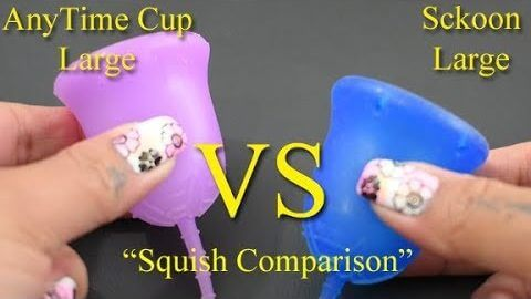 "Anytime Cup vs Sckoon Cup Lg ""Squish"" - Menstrual Cups"