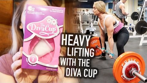 Lifting on Your Period - My Review of the Diva Cup