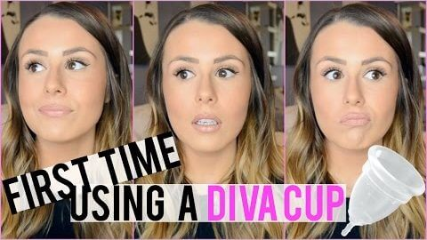 I TRIED A DIVA CUP FOR THE FIRST TIME...