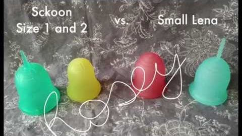 Sckoon 1 and 2 vs. Small Lena - Menstrual Cup Comparison